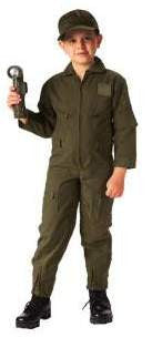 Kid's Flight Suit- Olive Drab
