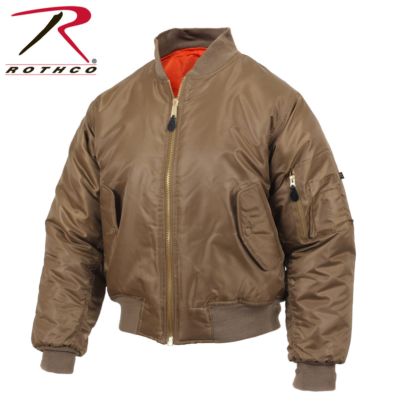 Rothco MA-1 Flight Jacket- New Color- Coyote