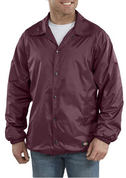 Dickies Snap Front Nylon Jacket- BURGUNDY- 76-242BY