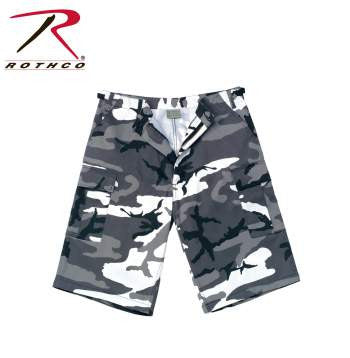 X-Long Fatigue Shorts- City Camouflage