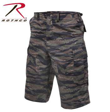 X-Long Fatigue Shorts- Tiger Stripe Camouflage
