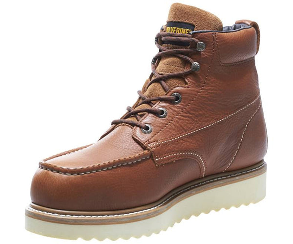 "WOLVERINE MOC-TOE STEEL-TOE EH 6"" WORK BOOT-W08289"