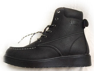 "LIBERTY GARY: 6"" LACE-UP BOOT- JET BLACK W/ BLACK SOLE"