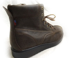 "LIBERTY GARY: 6"" LACE-UP BOOT- MOCHA WITH BLACK SOLE"