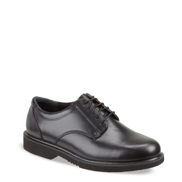 BLACK LEATHER OXFORD- 834-6041
