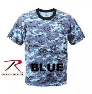 Digital Camouflage Short Sleeve Tee Shirts