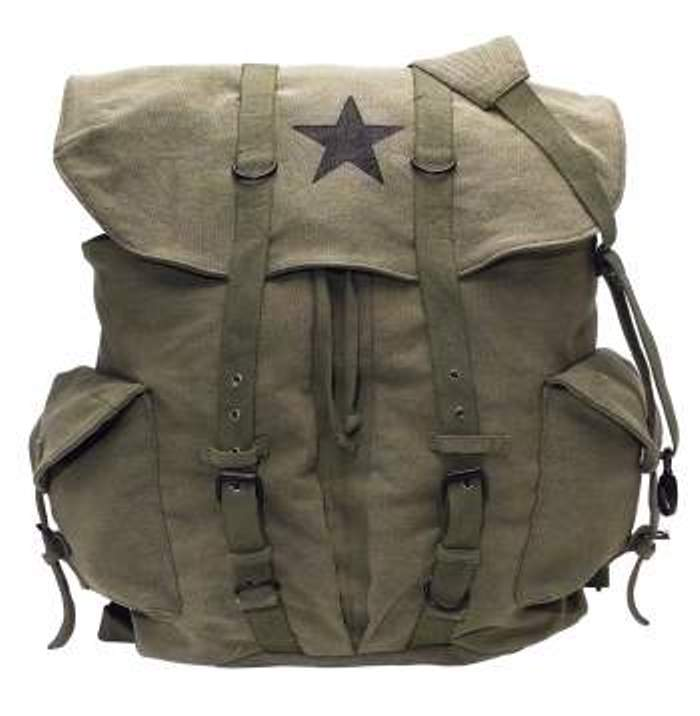 Olive Drab Vintage Star Backpack