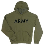 Army Olive Drab Hooded Pullover Sweatshirts