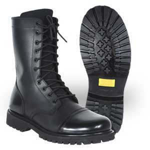 Work Zone 10 Inch Cap Toe Combat Boot with Side Zipper