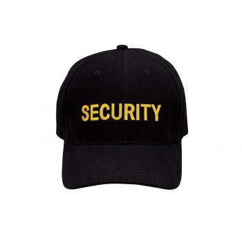 Security Ball Cap- White or Gold Lettering
