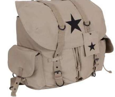 Khaki Vintage Star Backpack