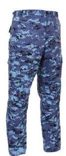 Battle Dress Pants- Sky Blue Digital