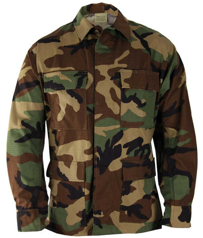 USED Woodland Actual Military Issue Camouflage  BDU Top