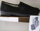 ZIG ZAG Winos Black with Black Sole Slip-on.