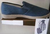 ZIG ZAG Winos Blue Slip On with Tan Soles