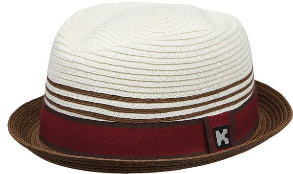 Toyo Fedora-White and Burgundy