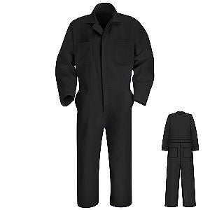 Red Kap Twill Action Back Coverall- BLACK