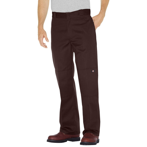 85283- Dickies Double Knee Cell Pocket Work Pant- Dark Brown