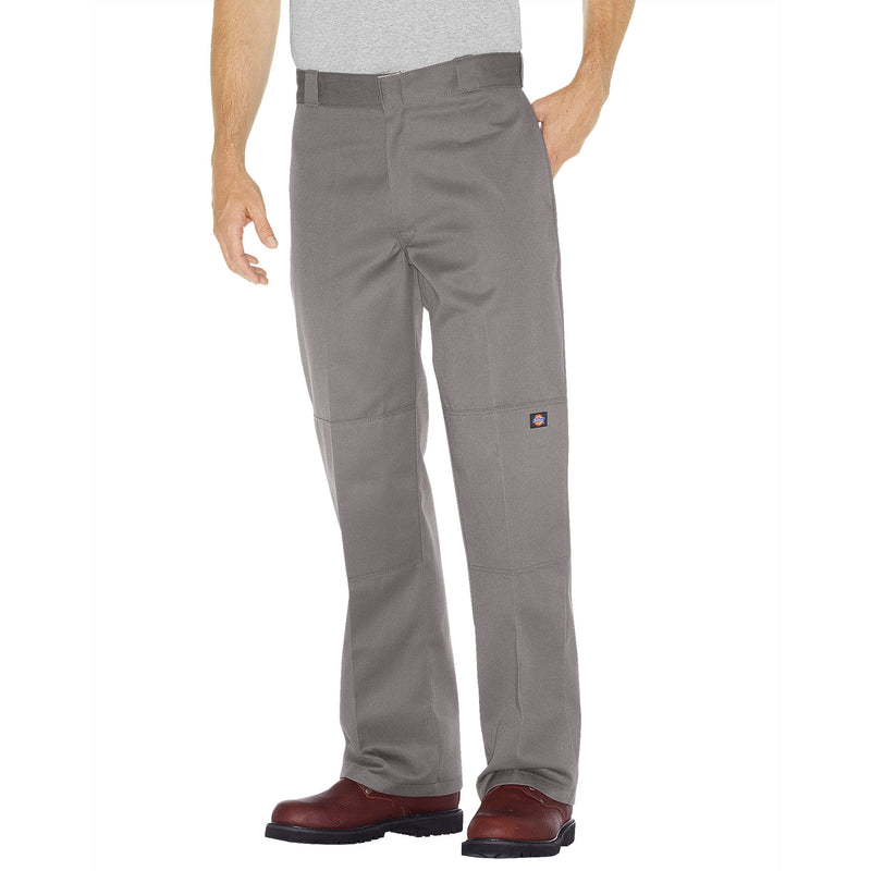 85283- Dickies Double Knee Cell Pocket Work Pant- Silver Gray