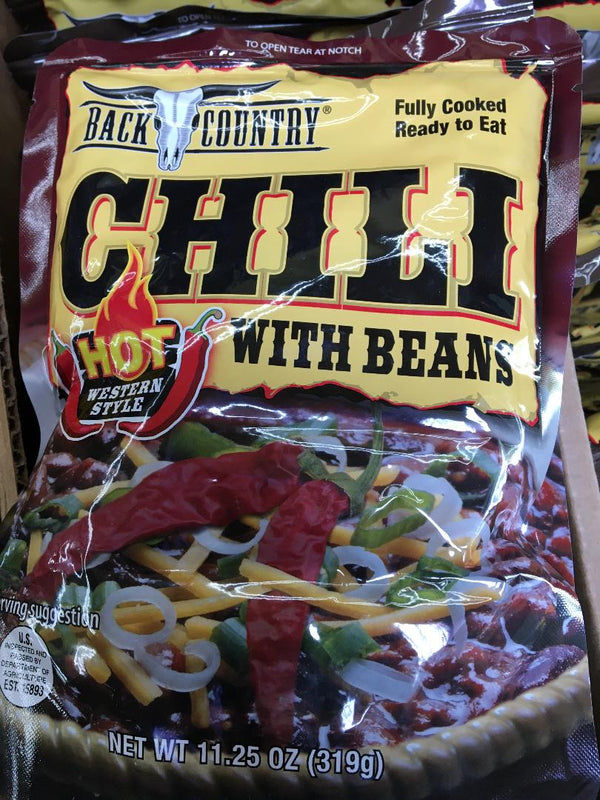 BACK COUNTRY HOT CHILI WITH BEANS - (11.25 OZ)