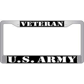 Auto License Plate Frames- Army Veteran
