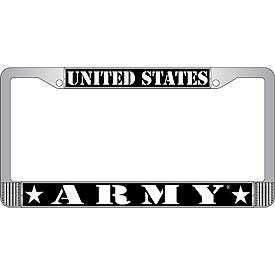Auto License Plate Frames- ARMY