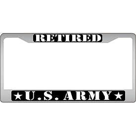 Auto License Plate Frames- Army Retired