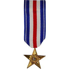 Medal, Mini-Medal, Ribbon- Silver Star
