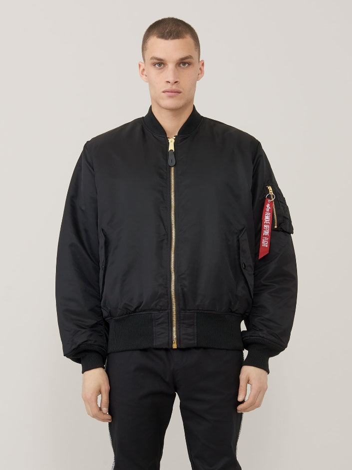 Alpha MA1 Flight Jacket- Black-   This Classic never goes out of style!