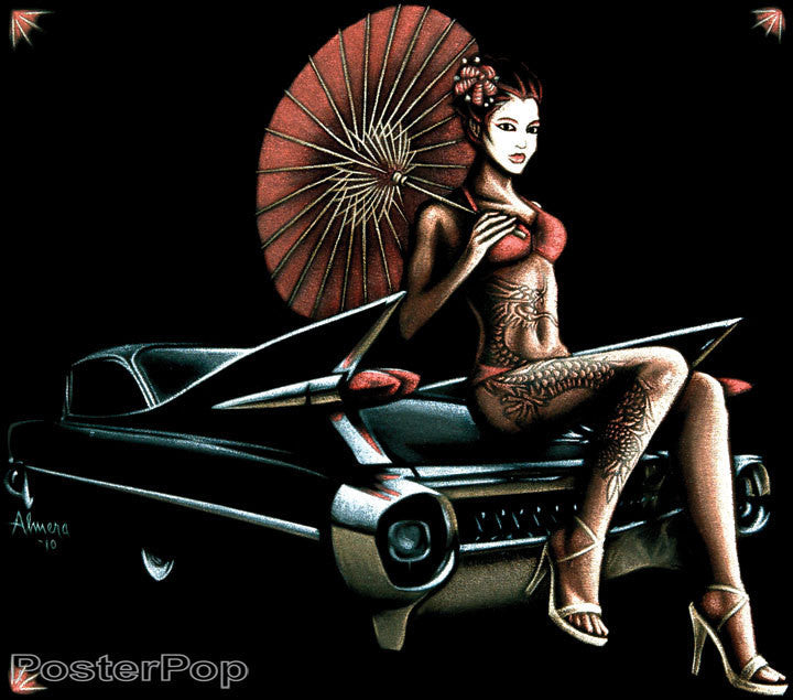 Almera 59 Caddy Geisha Sticker