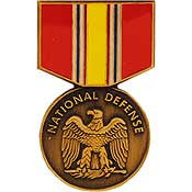 Mini Medal Pin- National Defense