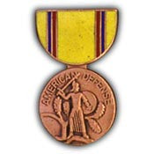 Mini Medal Pin- American Defense