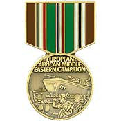 Mini Medal Pin- Eur/Afr/Mid East Campaign