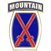 U.S. Army 10th Mountain Divison Pin