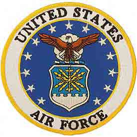 "Air Force Logo Patch - 3"" -FREE SHIPPING"