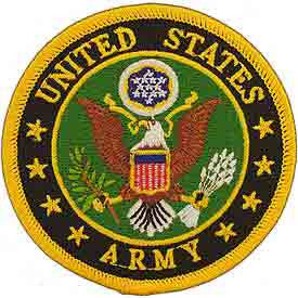 "Army Logo Patch - 3"" -FREE SHIPPING"
