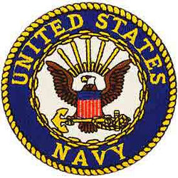Navy Logo Patch - 3""