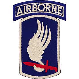 Army- 173rd Airborne Tab -FREE SHIPPING
