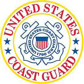 "Coast Guard Logo Patch - 3"" -FREE SHIPPING"