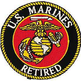 "Marines Logo Patch - 3"" Retired -FREE SHIPPING"