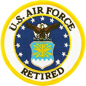 "Air force Logo Patch - 3"" Retired -FREE SHIPPING"