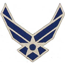 "Air Force Logo Patch - 3.25"" -FREE SHIPPING"