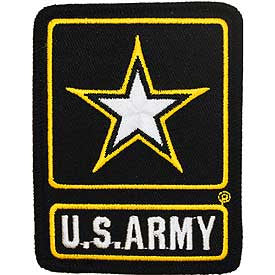 "Army Logo Patch - 3.5""  -FREE SHIPPING"
