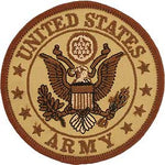 "Army Logo Patch - 3"" Desert -FREE SHIPPING"