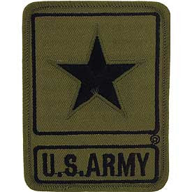 "Army Logo Patch - 3.5"" Subdued -FREE SHIPPING"