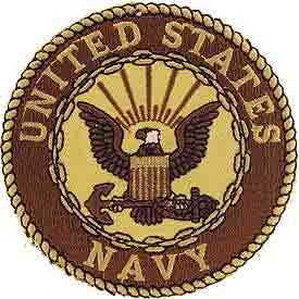 "Navy Logo Patch - 3"" Desert"