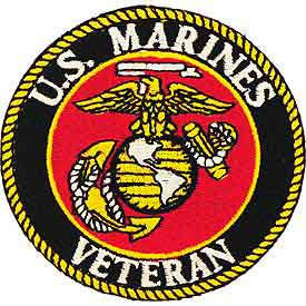 "Marines Logo Patch - 3"" Veteran -FREE SHIPPING"
