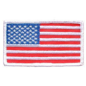 USA Flag Patch- White boarder- FREE SHIPPING