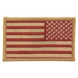 USA Flag Patch Desert Right Arm- FREE SHIPPING