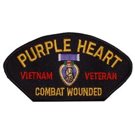 Vietnam- Combat Wounded Hat Patch